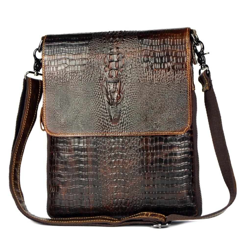 Äkta läderväska för män Crocodile Alligator Mäns Business - Handväskor - Foto 3