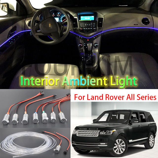 voor land rover alle auto metalen hoofd hoge helderheid fiber optic lichten auto interieur verlichting