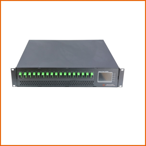 16 Ports EYDFA, 2U High Power EDFA, 17/18/22dBm, With Or Without WDM