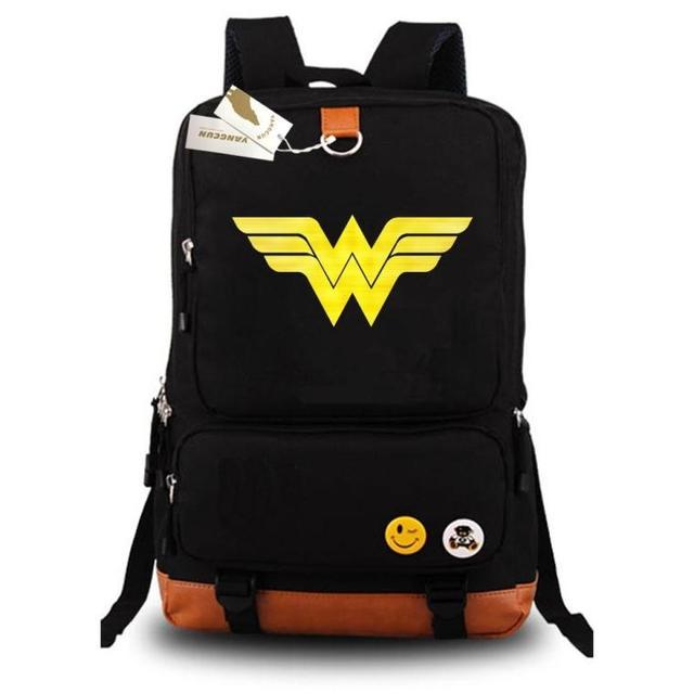 441df0a73 2017 Novo DC Super-heróis Mulher Maravilha Laptop Sacos Mochila Unisex  Escola Ocasional Sacos de