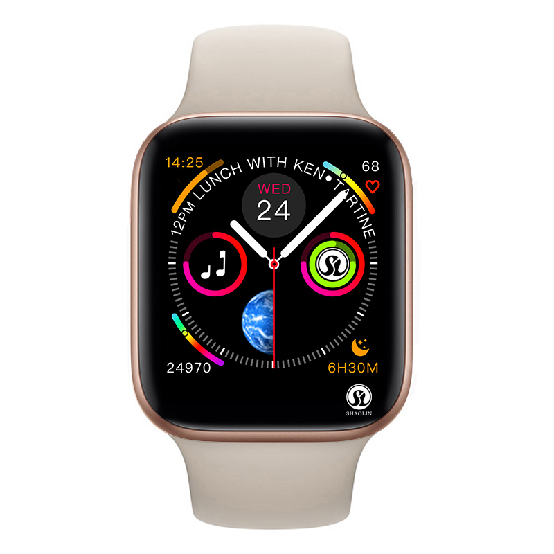50% de descuento Smart Watch Series 4 SmartWatch funda para apple iPhone Android teléfono inteligente monitor de ritmo cardíaco podómetro (rojo botón) - 2