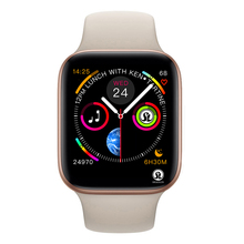 50% off Smart Watch Series 4 Smart Watch case for apple iPhone Android Smart phone heart rate monitor pedometor (Red Button)