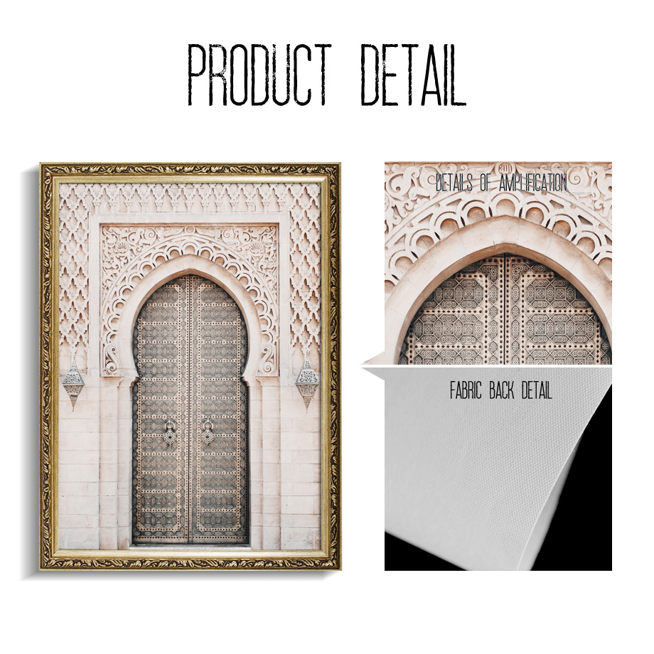 Taj Mahal Door Scenery Wall Art Canvas Painting Nordic Posters And Prints Wall Pictures For Living Room Scandinavian Home Decor in Painting Calligraphy from Home Garden