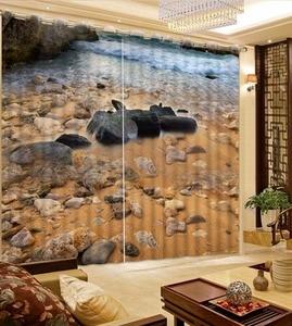 Декоративная занавеска риф волнистые камни 3D ванная душевая занавеска затемненная занавеска ткань занавеска дизайн