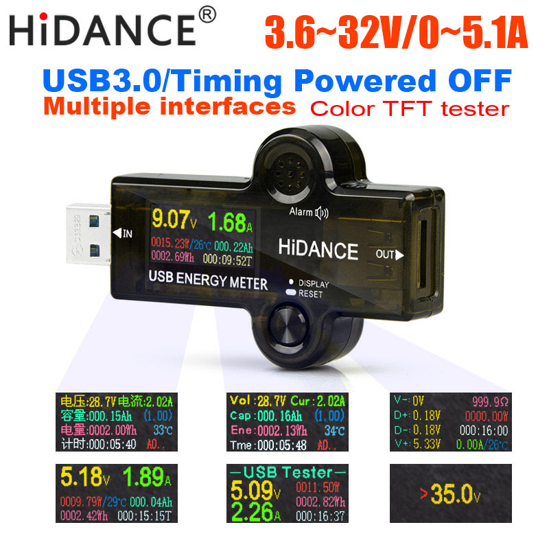 12 em 1 USB tester DC Digital voltímetro amperímetro medidor de corrente de tensão amp volt amperímetro detector indicador do carregador banco do poder