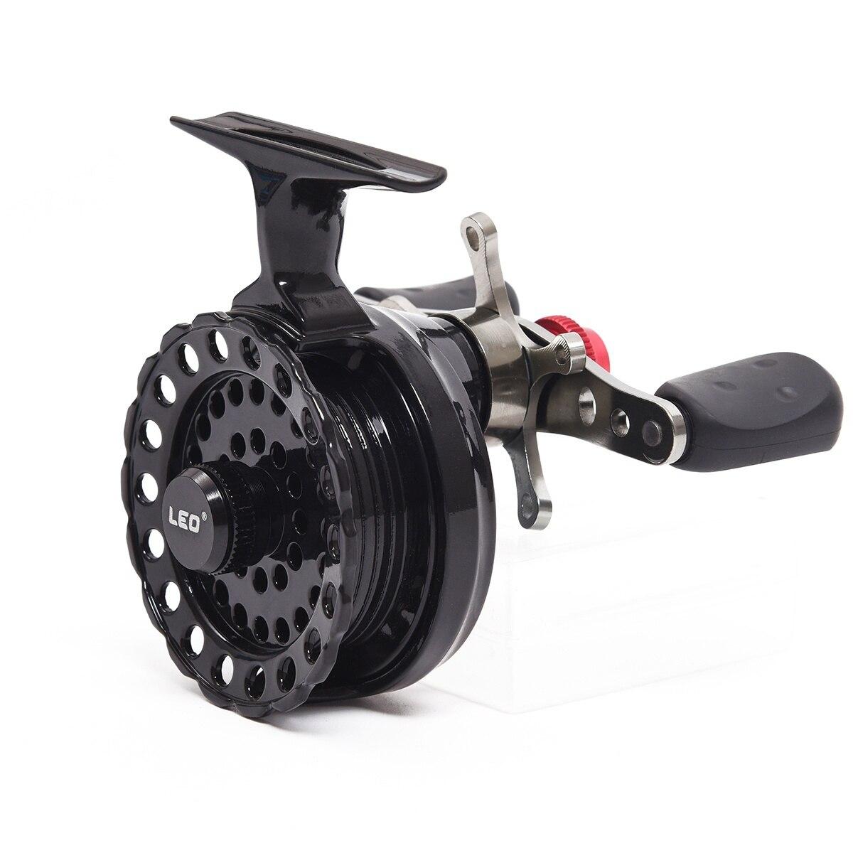 MMFC-LEO DWS60 4 + 1BB 2,6: 1 65mm Fly Fishing Reel Rad mit Hoher Fuß Angeln Reels Angeln Reel Räder