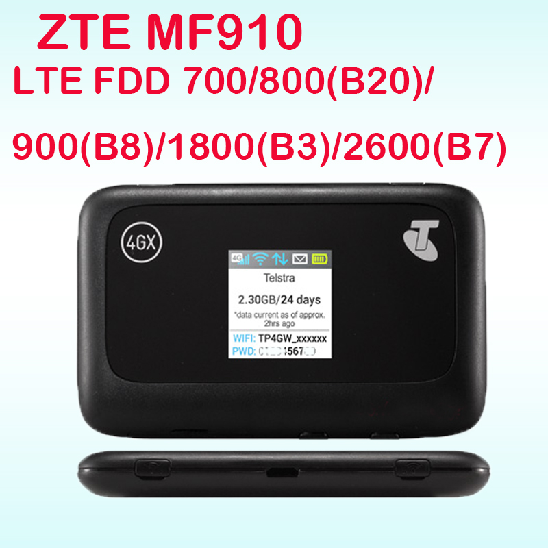 Unlocked ZTE MF910 LTE 4G WIFI Router 4G wifi dongle Mobile Hotspot 150Mbps Network Router pk mf90 r212 mf91 mf93 mf80 mf95 mf60