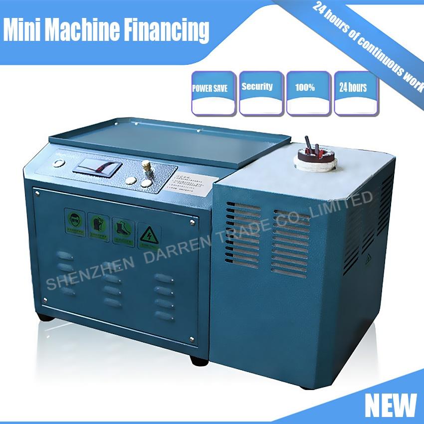 Nuova Mini MACCHINA 220 V 1 KG ORO ORO FUSO, RAME, ARGENTO, INDUZIONE FORNO di FUSIONE, ORO FORNO di FUSIONE