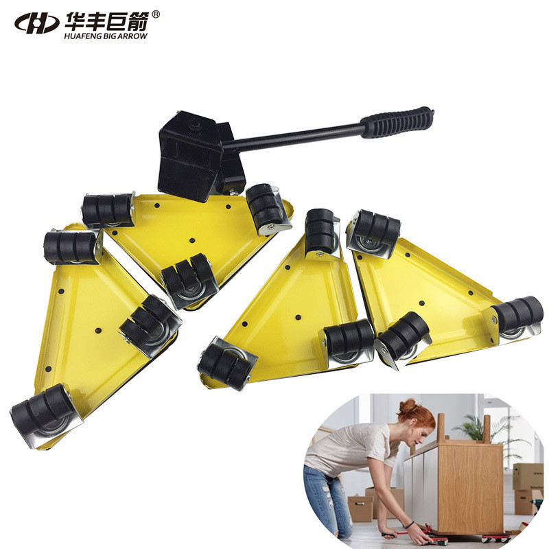 Furniture Mover Dolly Trolley Transport Removal Set Heavy Duty Lifter Wheel Move дырокол deli heavy duty e0130
