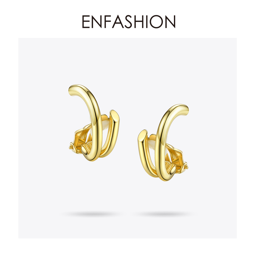 Enfashion Surround Ear Clips Ear Cuff Cartilage Clip On Earrings Without Piercing Earcuff Jewelry For Women Bijoux Femme 181052