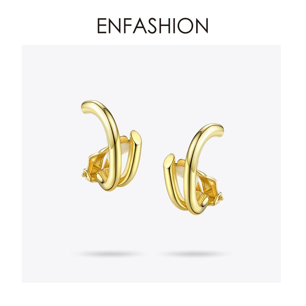 Enfashion Surround Ear Clips Ear Cuff Cartilage Clip On Earrings Without Piercing Earcuff Jewelry For Women Bijoux Femme 181052