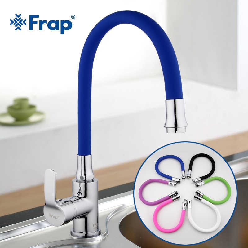 Frap силикагель нос любом направлении вращающийся кухонный кран для горячей и холодной воды, смеситель для кухни Torneira Cozinha одной ручкой коснитесь F4353