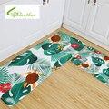 Мягкий коврик с фламинго для тропических растений  Нескользящие Коврики для спальни  коврик для гостиной  кухни