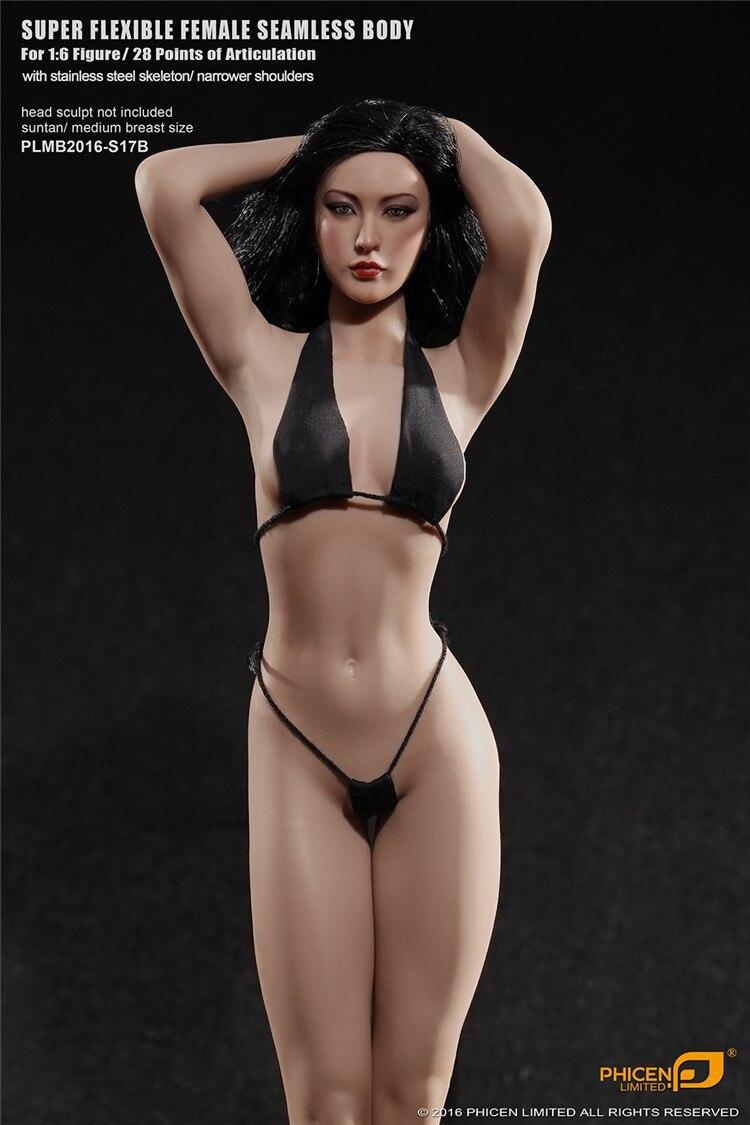 Phicen 1 6 PLMB2016 S17B Super Flexible Female Seamless Body Figure In stock