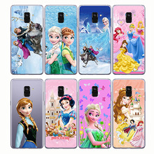 Castle Princess White Snow Prince Cartoon Phone Case Back Cover Silicone Soft for Samsung  A5 A8 A9 2018 pro