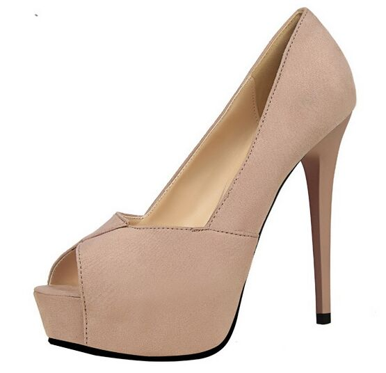 Size 4 8 Elegant Autumn font b Women b font Shoes Peep Toe Red High Heels