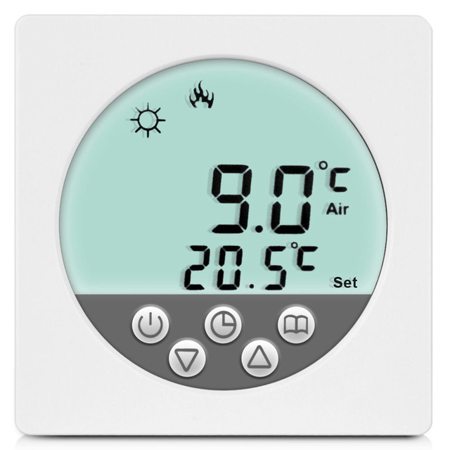 C15 Programming Heating Thermostat W/ Touchscreen in LCD Display ...
