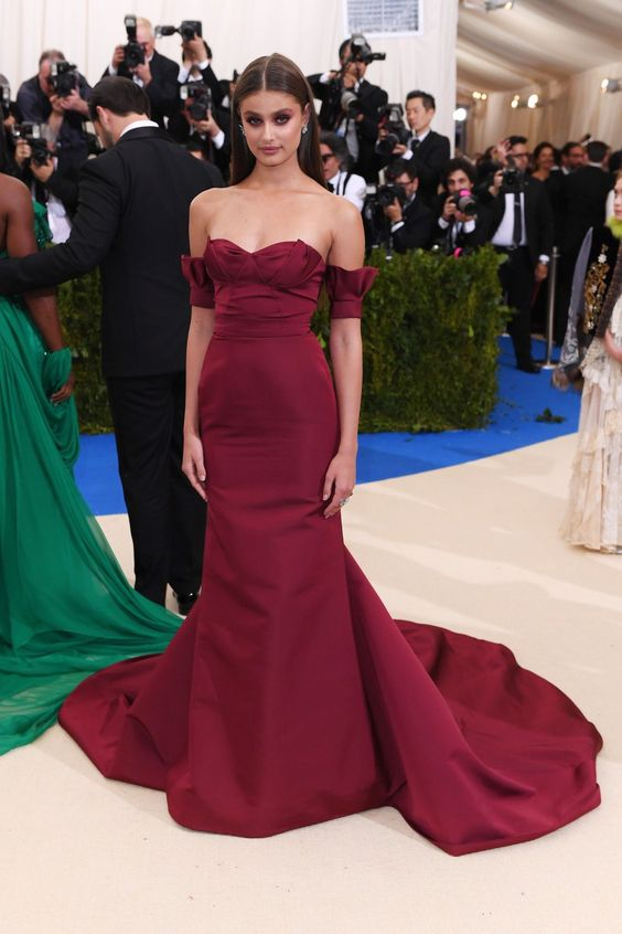 Sexy Inspired By Taylor Hill 2017 Met Gala Celebrity Dress -6723