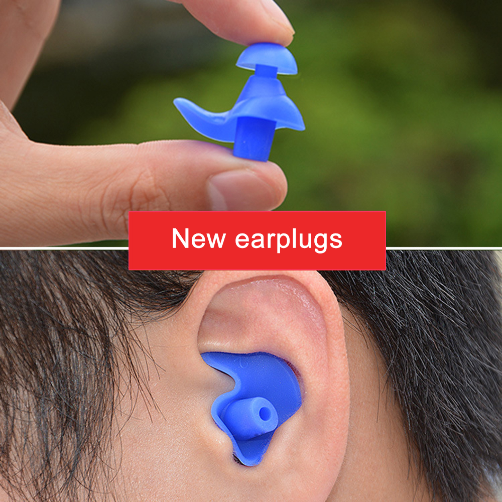 1 Pair Soft Silicone Ear Plugs Set Environmental Waterproof Dust Proof Sports Water Diving Skin Care Set TSLM2
