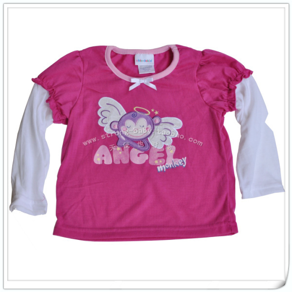 Rose little angel long-sleeve children clothes 100% cotton long-sleeve baby