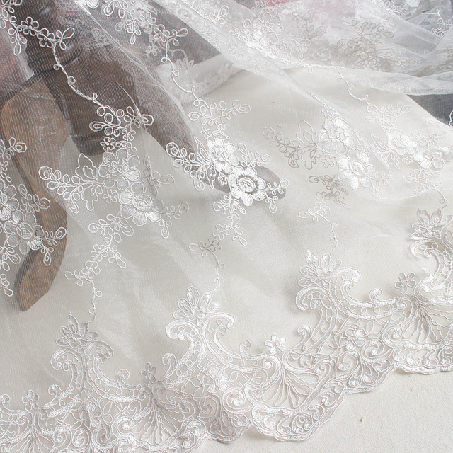 Us 1449 Full Frame Carpet Lace Accessories Wedding Dress Curtain Diy Handmade Material Embroidery Stereo Flower Cloth In Fabric From Home Garden