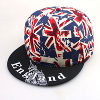 1 Pcs 2015 New United Kingdom Flag Letter ENGLAND Hip Hop Cap Summer Men And Women