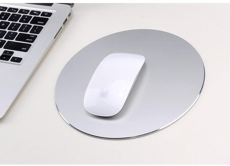 aluminium legierung computer mäusen matte mousepad metall For PC Laptop
