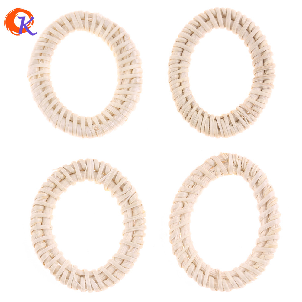 Cordial Design 20Pcs/Bag 38*44MM Jewelry Findings/Hand Made/DIY/Rattan Charm/Hollow Oval Shapes/Embellishments/Earring Making