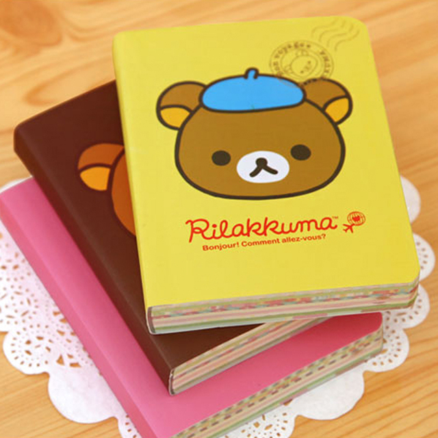 Kawaii Cartoon Rilakkuma Print Cover Color Page Mini Notebook Diary Notepad Travel Book KCS