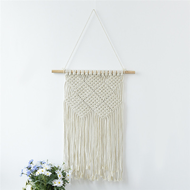 Newest Handmade Macrame Wall Hanging Home Decor Retro Craft