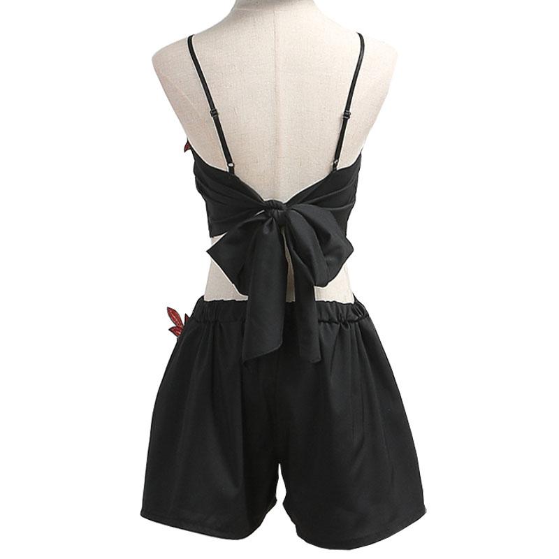 HTB1 JaNRVXXXXayXFXXq6xXFXXXA - Women Floral Embroidery Vintage Crop Top Shorts Set Skirt PTC 164