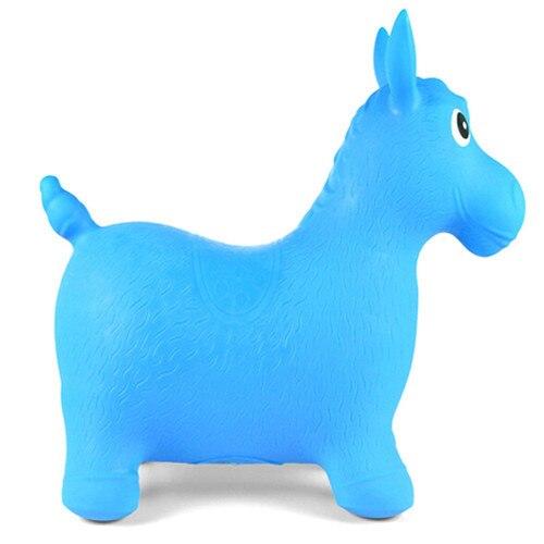 Animal niños espacio tolva inflable salto caballo paseo-on saltador juguetes de la tolva de espesor Extra para los niños de Color al azar