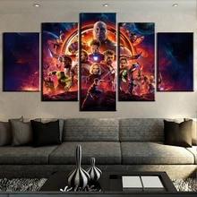 Новые 5 шт. HD Печать Большие Мстители Бесконечность войны фильм плакаты, постеры на холсте стены Искусство предметы интерьера на стену Декор