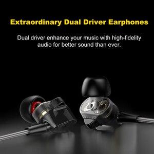 """Image 2 - Duszake סטריאו בס אוזניות בתוך אוזן 3.5 מ""""מ אוזניות מתכת HIFI Wired נהג כפול אפרכסת עם מיקרופון עבור טלפונים Xiaomi סמסונג"""