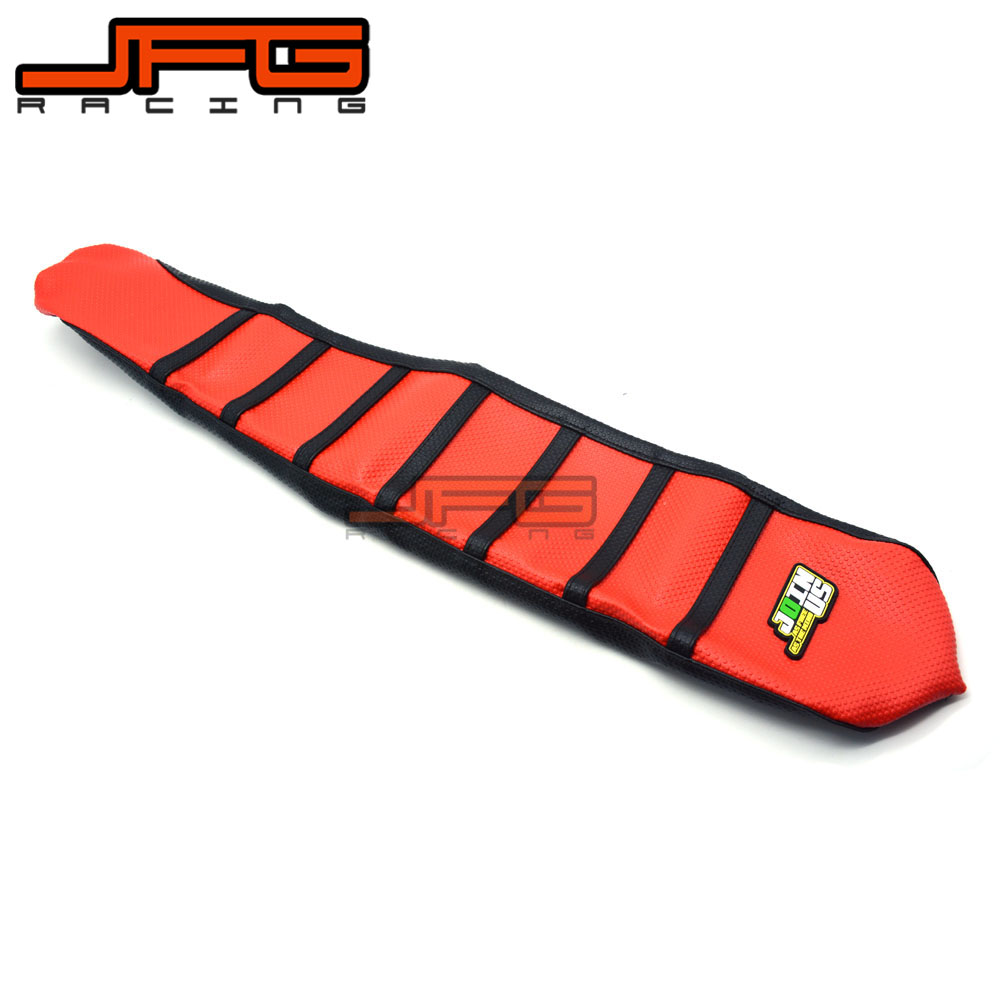 Motorcycle Ribbed Soft-Grip Rubber Soft Seat Cover For Honda CRF450R CRF450 R 2017 Motocross Supermoto Dirt Bike