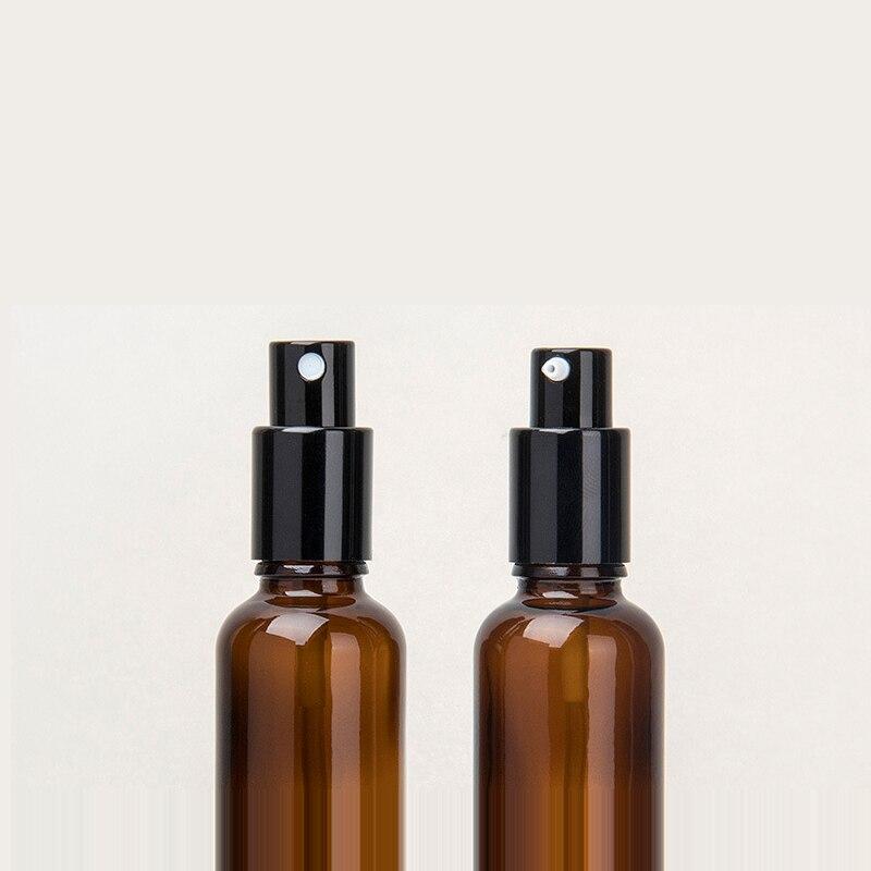 10 100 ml 1 ctn oro argento nero a spruzzo emulsione testa tan flaconi contagocce di Vetro Bottiglie di Olio Essenziale di Cosmetici Contenitore di viaggio - 4