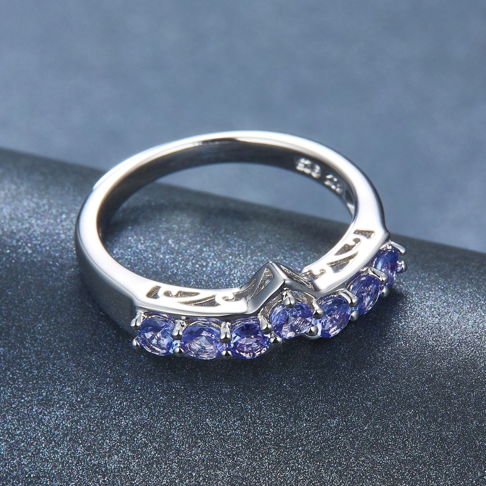 Image 5 - Hutang Natural Tanzanite Promise Ring 925 Sterling Silver 