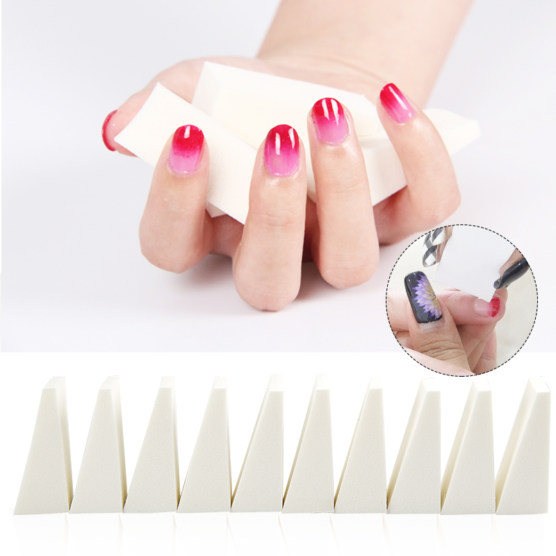 10 Pieces White Soft DIY Nail Art Equipment Tool Accessory Manicure ...