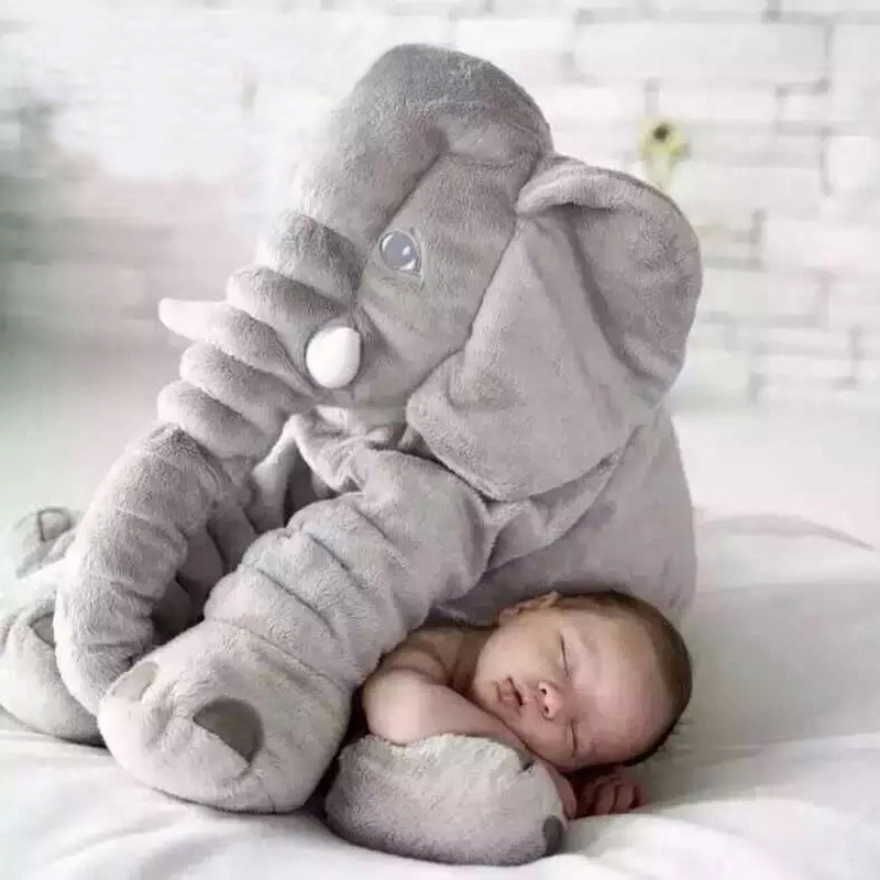 Baby Elephant Pillow Soft Automotive Baby Pillow Foldable