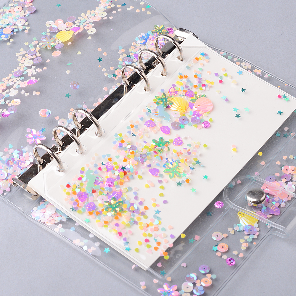 A6 Notebook Journal Agenda Plannner PVC Binder Folder Holder Zipper Index Divider Spiral Bag Kawaii Stationery Office Supplies