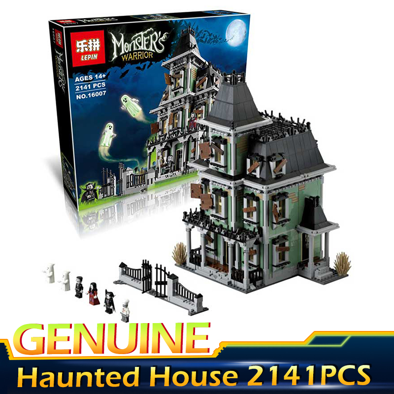 New LEPIN 16007 Monster fighter The haunted house 2141Pcs  Model set Building Kits Model Compatible With legoed 10228 the monster next door