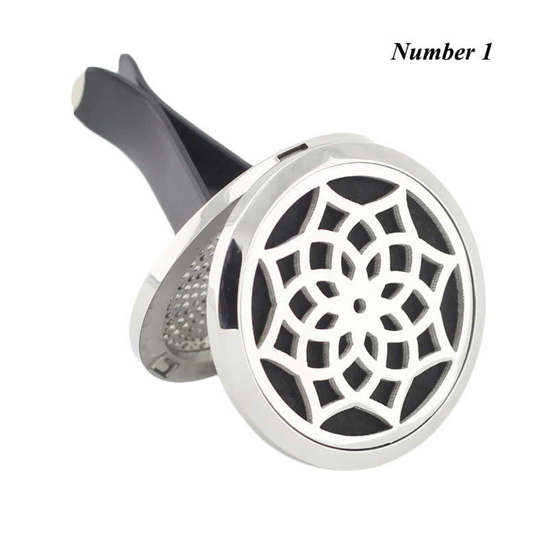 New Car Perfume Locket 38mm Magnetics Diffuser 316 Stainless Steel Car Aromatherapy Locket Essential Oil Diffuser Lockets
