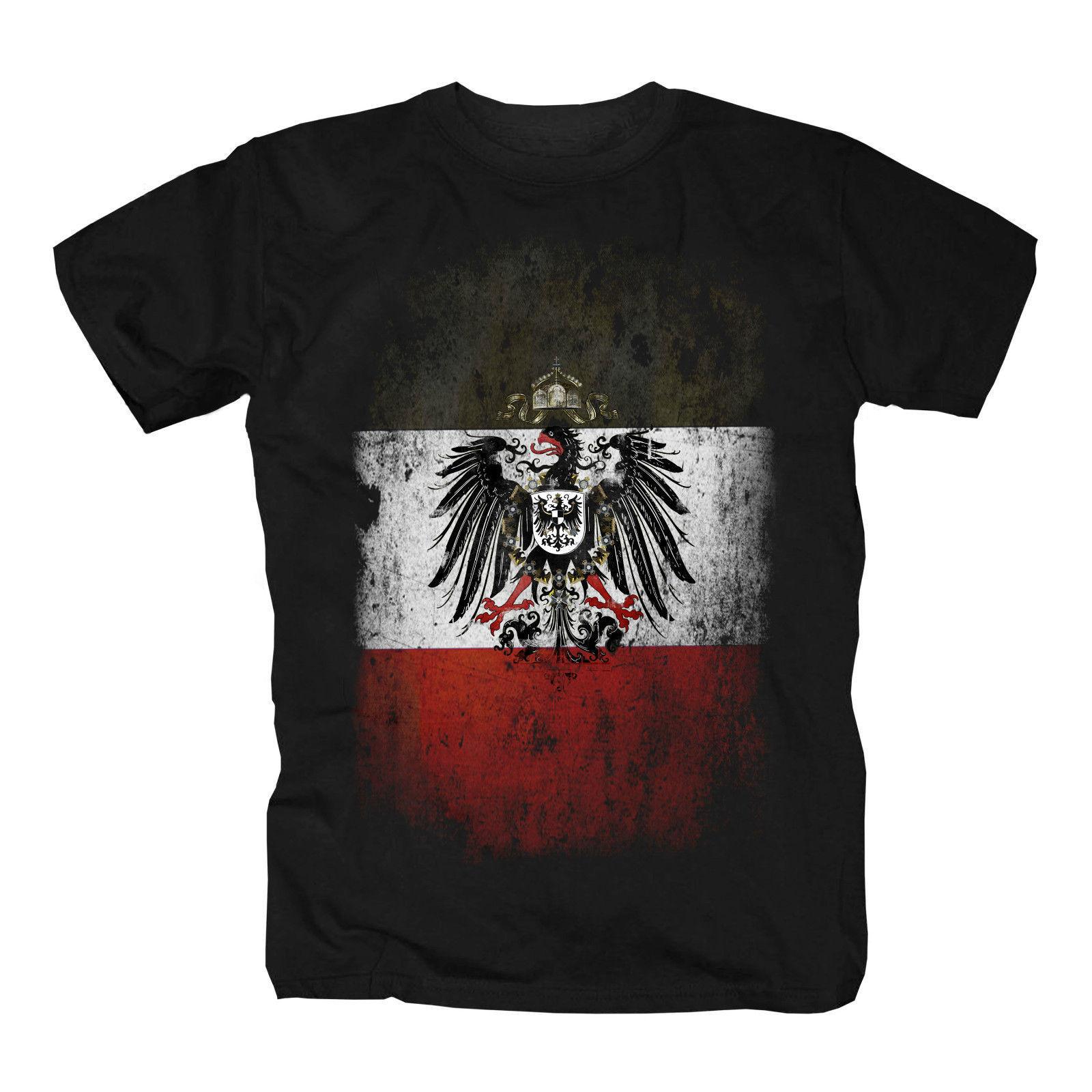 Impresso Tees Harajuku Masculino Top Roupas de Fitness Da Marca T-shirt Camisa Deutschland Adler Deutsches Reich Alemanha Fun Kult Tee Camisa