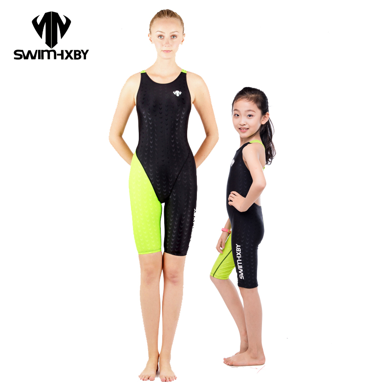 HXBY 2017 Racing Swimwear Women One Piece Swimsuit For Girls Swim Wear Competition Swimming Suit Women Bathing Suits One Piece hxby swimwear swimming women competitive swimsuit girls swimsuits sharkskin racing competition swim suits knee female