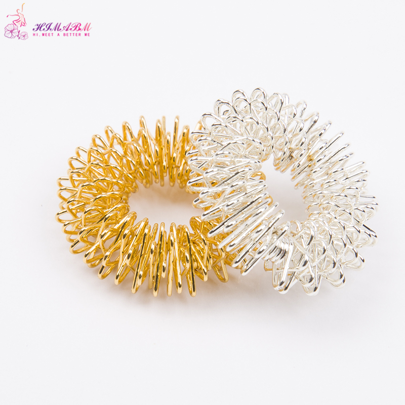 10 Pcs gold or silvery color stainless wholesale metal steel finger massage ring stimulate acupuncture points relieve finger