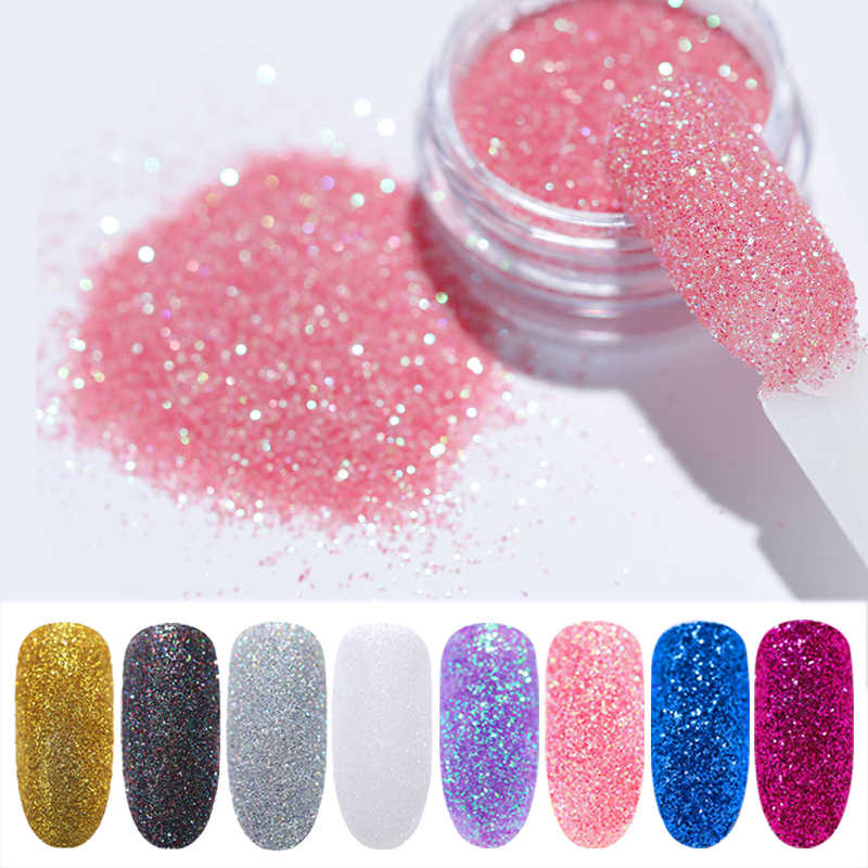 1g/Box Holo Nail Glitter Powder Gradient for UV Gel Polish Nails Decorations Sugar Glitter Dipping Manicure Nail Art