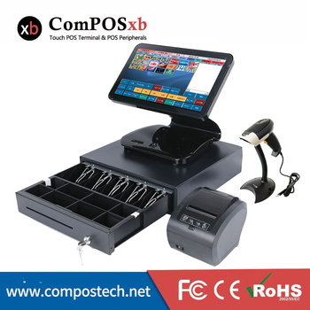 Cheap POS System restaurant All In One Pos Machine 15.6 Inch Capacitive Touch POS1519