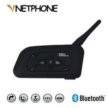 цена на Vnetphone V4 1200m Motorcycle Bluetooth Intercom Helmet Biker Interphone 4 Riders Headset Speaker Intercom for KTM ls2 arai Helm