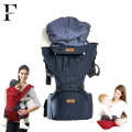 Organic Cotton Ergonomic Baby Carrier hooded baby backpacks hipseat 2 in1 removable baby sling wrap solid baby kangaroo