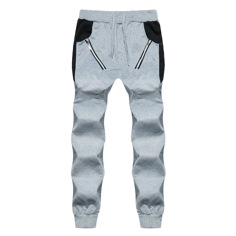 men casual pants New Fashion splicing harlan Tracksuit pants Mens Cotton casual Little f ...